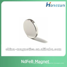 forte plat disque néodyme pour moteurs plaqué zinc/nickel