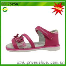 Girls Summer PU Sandals with Butterfly Flower