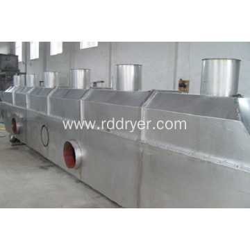 Vibrating fluidized bed dryers for fumaric acid
