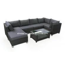 Mobília do Rattan ao ar livre de vime sofá Lounge conjunto jardim