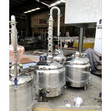 Equipamento da destilação do álcool de cobre de 30L 50L moonshine a destilaria do destilador