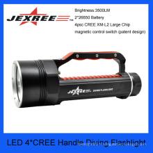 JEXREE 40w cree imperméable à l'eau manchette torche de plongée lampe de poche lampe de poche