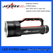 JEXREE 40w cree waterproof handle diving torch flashlight led flashlight