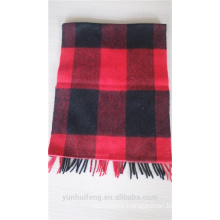 Popular checked warm scarves wool fabric