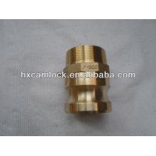 Latão Camlock Coupling Type-F (Macho Adaptador X Rosca Macho)