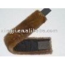 real mink fur skin natural brown color Mink fur headband