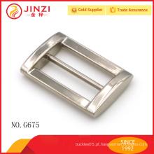 Personalizar design melhor qualidade bolsas metal quadrado fivelas