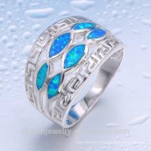 costume en gros bijoux en vrac acheter de la Chine anneau de opale de feu de conception à la main