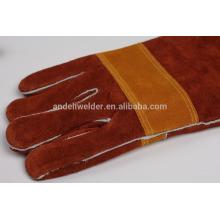 А9 47см ладони и большого пальца толстые сварочные перчатки коровы разделенная кожа сварочные перчатки