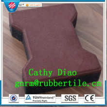 Best Seller Playground Rubber Tile, Dog-Bone Rubber Tile, Rubber Stable Tiles Wearing-Resistant Rubber Tile