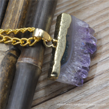 Handmade Alloy Spike Earring Natural Stone Pendents