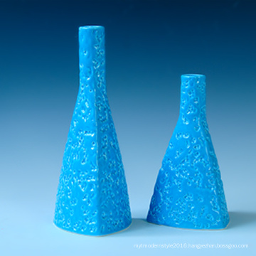 High Quality Ceramic Triangle Blue Decoration Hotel Decoration