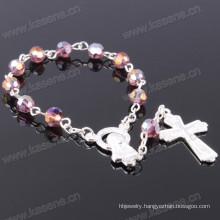 Multicolour 6mm Angle Crystal Bead Fashion Religious Bracelet