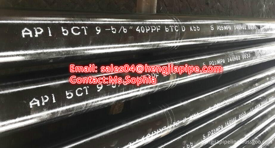 11.8M API 5CT standard casing pipes