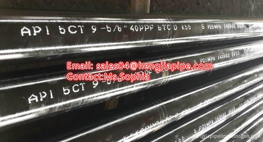 11.8M API 5CT standard casing pipes