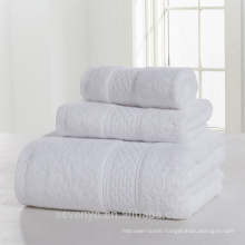 100% cotton pure white high quality towel set