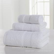 100% хлопок чистый белый высокое качество полотенце комплект