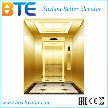 Ce Золотой цвет и стабильный пассажирский лифт с малым машинным залом