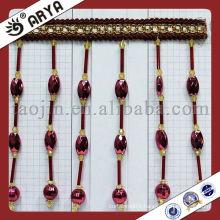 Long Beads Fringe Trim Fringe For Curtain Beaded Curtain Home Decor