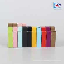 Boîte d'emballage de rouge à lèvres en papier Kraft avec logo imprimé