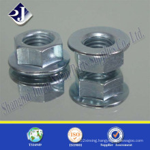 Hex Flange Nut with Zinc Blue