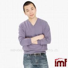 Вязаный узор кашемировый свитер Мужчины свитер