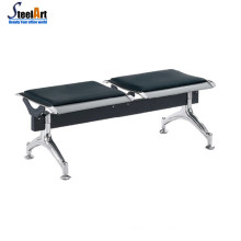 2 seaters stainless steel airport station hospital waiting chair