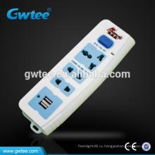 220В универсальный электрический разъем USB-порт комплект FXD-357