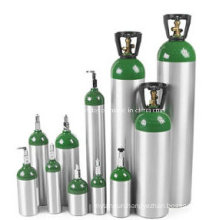 Medical Aluminum Oxygen Cylinders 5L with Pin Index Oxygen Valves Cga870
