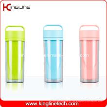 Coupe en plastique double couche de 350 ml avec poignée (KL-5021)