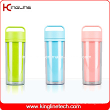350ml Plastic Double Layer Cup with Handle (KL-5021)