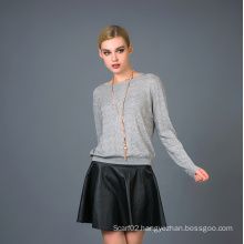 Lady′s Fashion Cashmere Blend Sweater 17brpv050