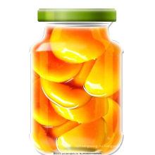 Консервированные Желтые персики половинки в легком сиропе ---консервированные фрукты