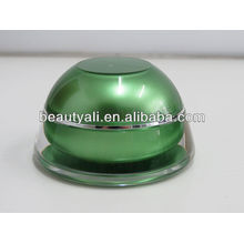 5ml 15ml 30ml 50ml Domed Shape plástico cosmético de luxo acrílico creme jarra