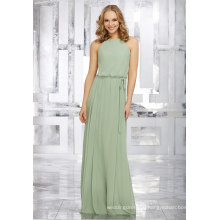 Green Chiffon A Line Bridal Gown Bridesmaid Dresses
