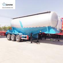 Remorque de ciment en vrac à 3 essieux 55cbm