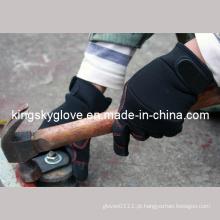 Luva de trabalho de mecânico de couro sintético