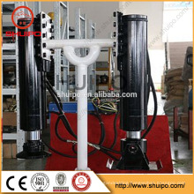 Weld Gearbox Inboard Handle Hydraulic Landing leg/Hydraulic Landing gear made by shuipo/Hydraulic Landing leg for trailer