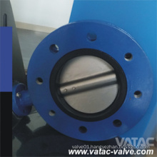 PFA/FEP/PTFE Lined Cast Steel A216 Wcb Wafer Butterfly Valve