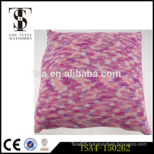 hot sale special technical warm throw pillow elegant style red knitting soft pillow