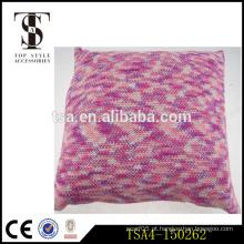 Quente venda especial técnico quente almofada estilo elegante vermelho knitting travesseiro macio