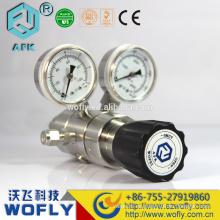 Doble etapa 1 / 4NPT ss316L diafragma de alta presión co2 reguladores