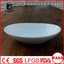 P & T chaozhou usine cuvette en céramique / porcelaine saladier ovale