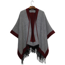2016 Fall Winter New Fashion Acrylic Woven Fringe Shawl (YKY4504)