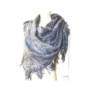 Kaschmir Wolle gemischte gewebte quadratische Schal Tierdruck