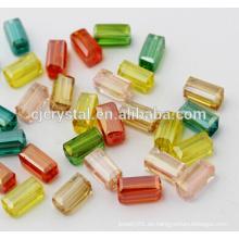 Joyas de cristal rectángulo perlas de vidrio perlas fabricantes