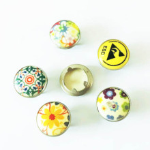 Silk Printing Prong Snap Button for Clothing