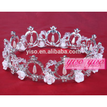 hair jewelry hot sale rhinestone wholesale costume tiaras
