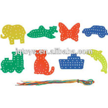 Factory Wholesale Plastic Threading Educational Plastic Toy