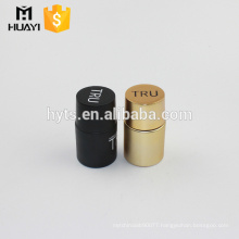 2018 best selling cylinder round empty perfume bottle 60ml with black and gold cap